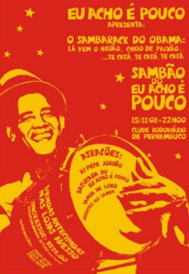 Cartaz de festa do Eu acho é pouco com Barack Obama em
