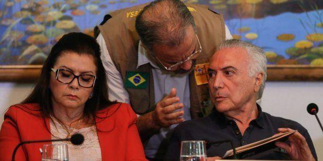 Governadora de Roraima, Suely Campos, em reunião com ministro Raul Jungman (Defesa) e presidente Michel