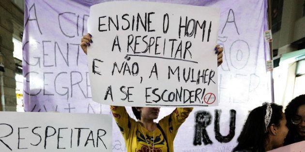 Protesto em 2014 em São Paulo contra assédio