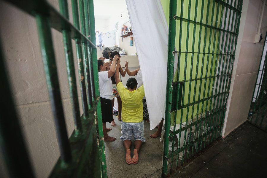 Mulheres no presídio Anisio Jobim em Manaus, em