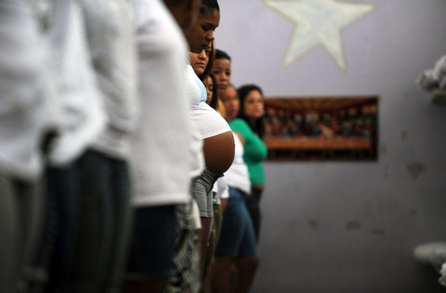 Grávidas na prisão Nelson Hungria, no Rio de Janeiro, em