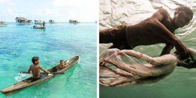 O povo Bajau Laut, nômades marinhos, sobrevive de