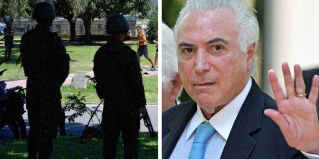 Intervenção federal, de Michel Temer, na segurança pública do Rio de Janeiro foi parar no