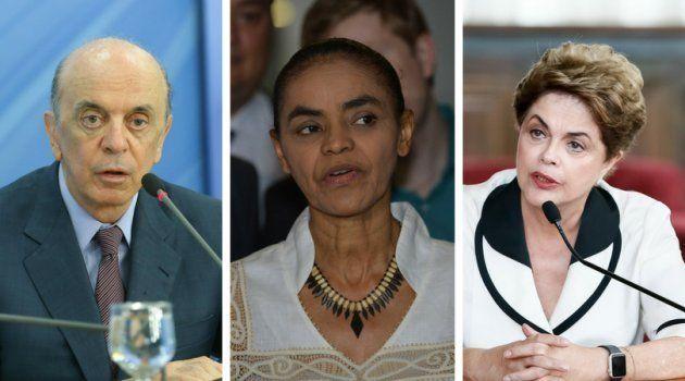 José Serra, Marina Silva e Dilma Rousseff: Elogios e críticas à criação do Ministério da Segurança Pública...