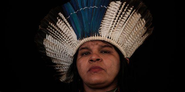 Sônia Guajajara, coordenadora da Articulação de Povos Indígenas do Brasil, cotada para ser vice na chapa...