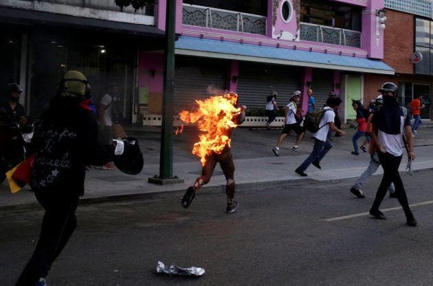 Caracas, capital da Venezuela, em 20 de maio de