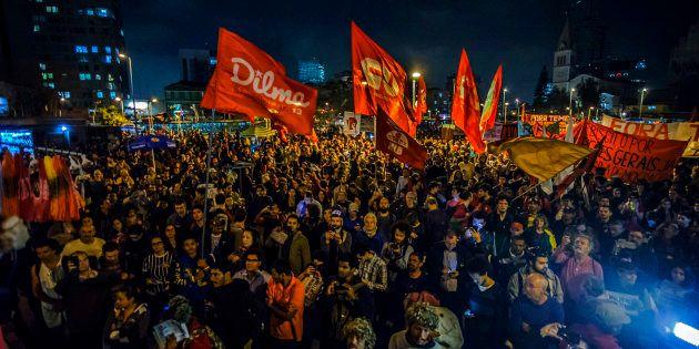 Protesto contra o impeachment de Dilma Rousseff em setembro de