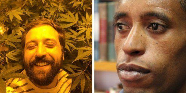 O apresentador Gregório Duvivier (esq.) e Rafael Braga (dir), que se tornou símbolo de desequilíbrio...