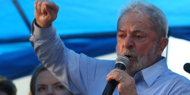 Ex-presidente Luiz Inácio Lula da Silva faz discurso com tom de candidato em janeiro, às vésperas de...