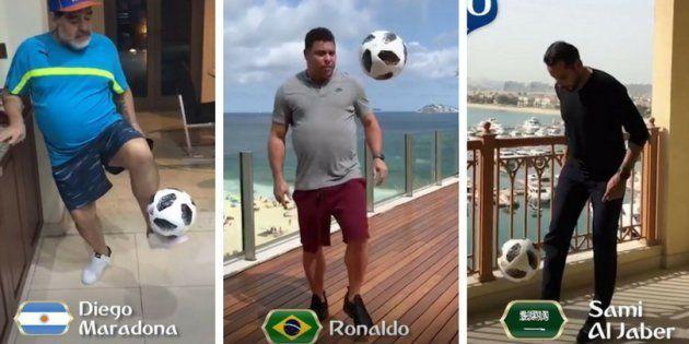 Craques da Copa do Mundo batem bola em vídeo da