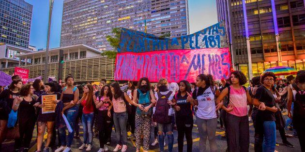 Protesto em 2017 em São Paulo por direitos das