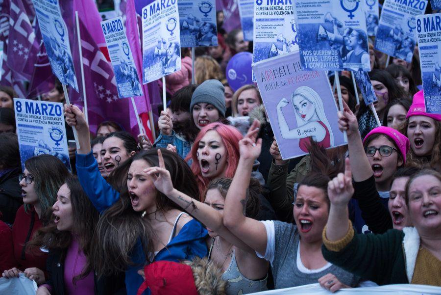 Manifestação no Dia Internacional da Mulher, em