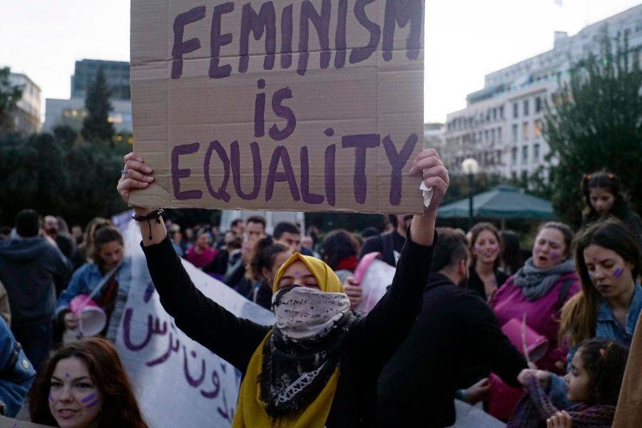Manifestação no Dia Internacional das Mulheres, na