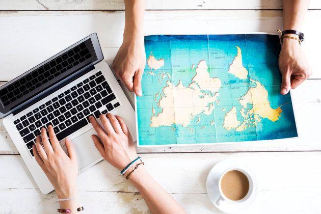 Travel planning on computer