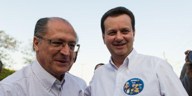 Geraldo Alckmin (esq.) e Gilberto Kassab