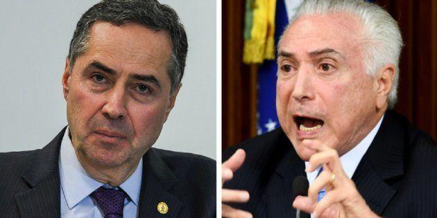 Atritos entre ministro do STF, Luís Roberto Barroso, e presidente Michel Temer são