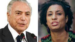 Governo Temer diz que assassinato de Marielle não muda intervenção no