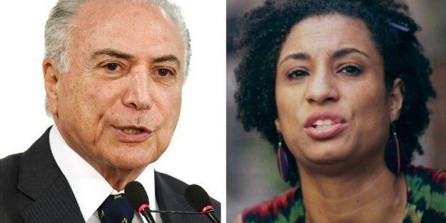 Para governo de Michel Temer, assassinato da vereadora Marielle Franco (PSol) não muda intervenção federal...