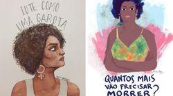 11 ilustrações que eternizam a luta da vereadora Marielle por direitos