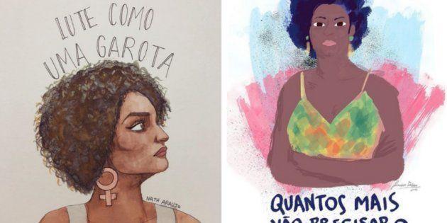 Assassinato da vereadora Marielle Franco (PSol) inspira ilustradores na luta por direitos