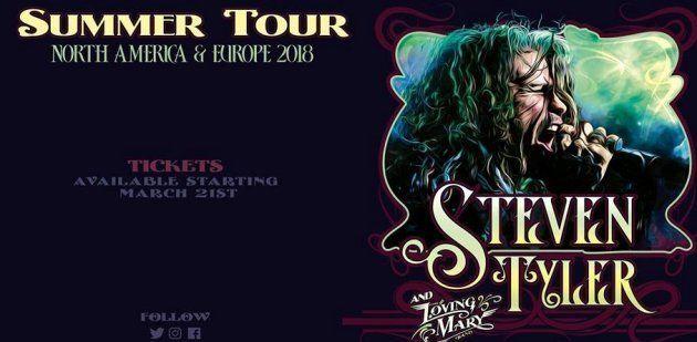 Steven Tyler fará primeira turnê solo da carreira entre junho e agosto deste