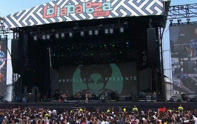 Banda Vanguart também homenageou Marielle no