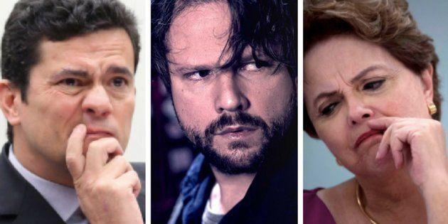 Sérgio Moro, Selton Mello (que interpreta um policial federal na trama), e Dilma Rousseff: A operação...