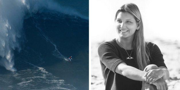 A surfista Maya Gabeira pode entrar para o livro dos