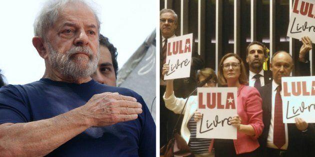 Aliados e adversários do ex-presidene Luiz Inácio Lula da Silva mudam nomes nos painéis de votação em...