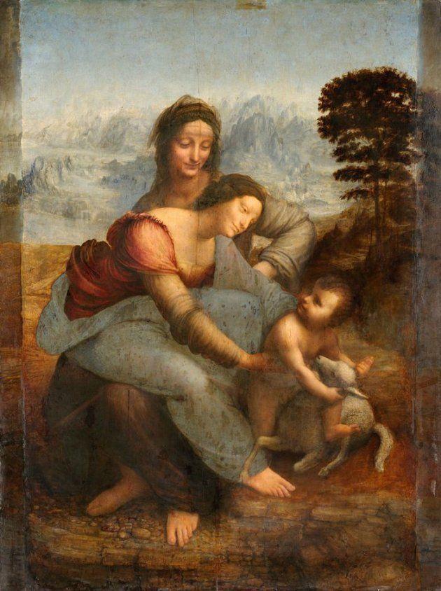 A Virgem, oMenino eSanta Ana, Leonardo da Vinci