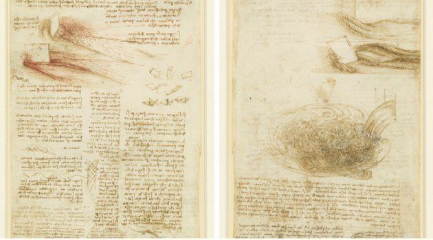 Estudos sobre as águas, Leonardo da Vinci (1473).
