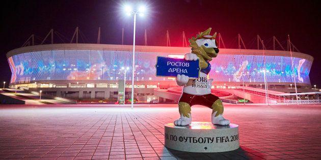 Jogo entre Rostov e SKA-Khabarovsk foi primeiro teste da Arena Rostov, palco da estreia do Brasil na...