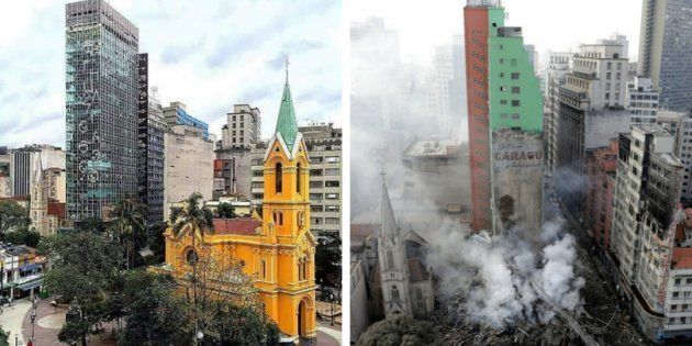 Prédio Wilton Paes de Almeida desabou no centro de São Paulo no início deste