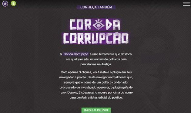 Cor da Corrupção: ferramenta é em forma de extensão que pode ser adicionada ao
