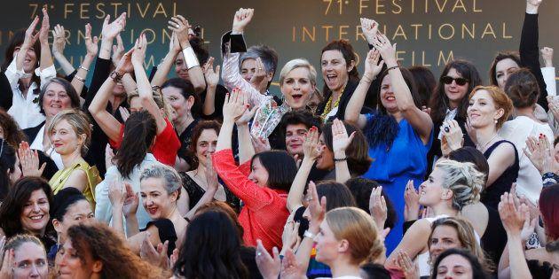 82 mulheres protestaram durante 71º Festival de Cannes por igualdade salarial no