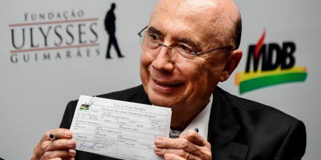 MDB deve lançar Henrique Meirelles como pré-candidato à Presidência da República nas próximas