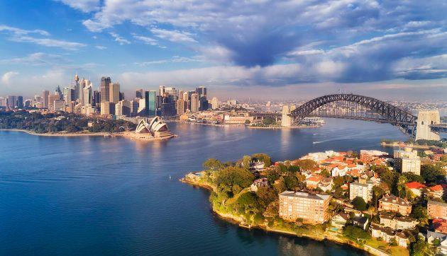 A cidade de Sydney, na