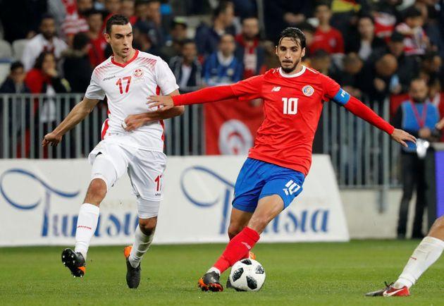Bryan Ruiz, número 10 da Costa Rica, é um dos pontos fortes da segunda rival do Brasil na Copa da