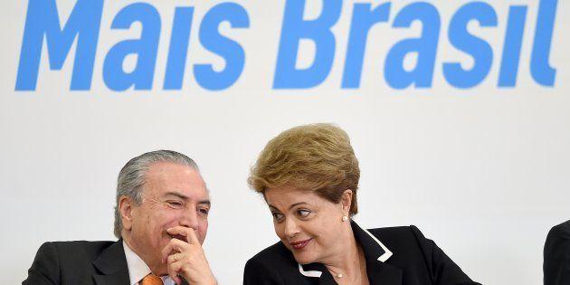 O MDB, do presidente Michel Temer, rompeu com o governo da então presidente Dilma Rousseff em março de