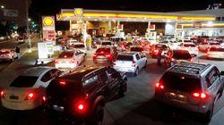 Falta de combustível tira táxis das ruas em São