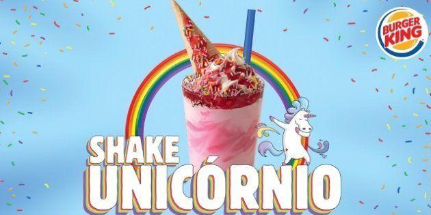 Shake Unicórnio será vendido em todas as unidades BK entre 30 de maio e 15 de