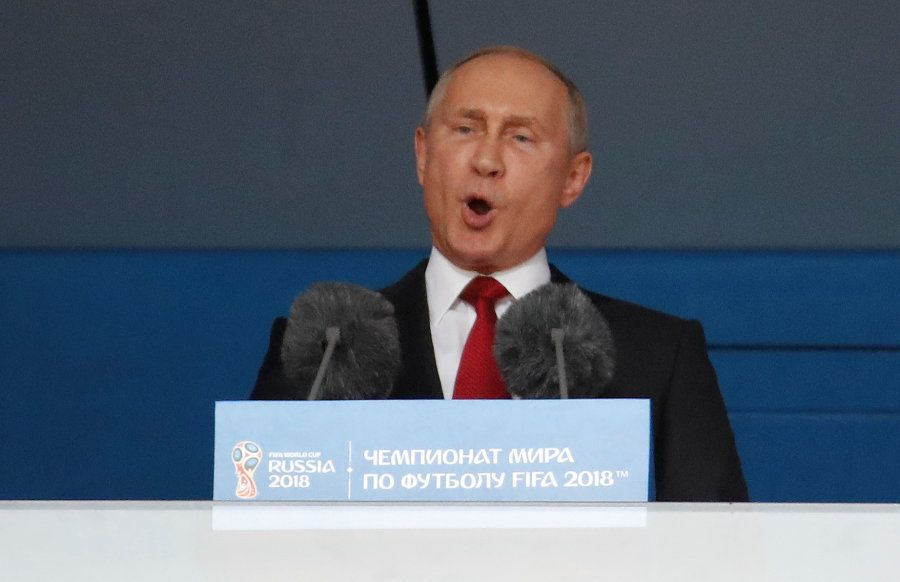 Putin discursa na abertura da Copa da