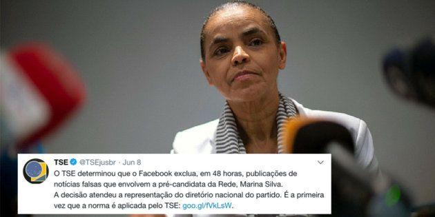 Marina Silva pediu, e TSE ordenou exclusão de conteúdo considerado fake news da