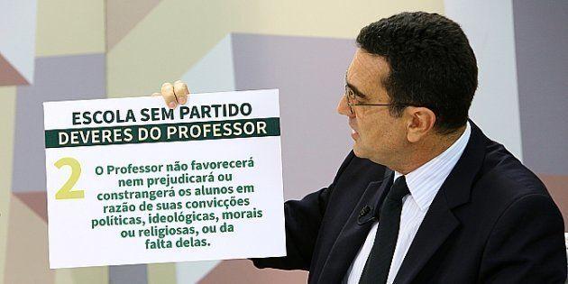 Nome mais frequente nos debates, presente 5 vezes, o fundador do Movimento Escola sem Partido, Miguel...