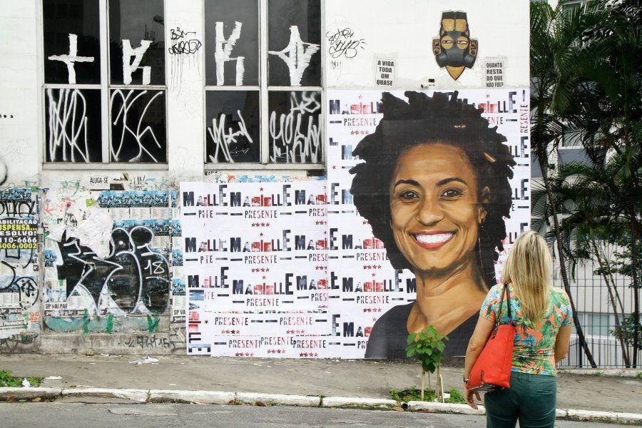 Homenagem a Marielle Franco em São