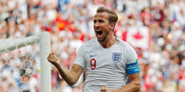 Harry Kane marcou três gols contra o Panamá e assumiu artilharia da