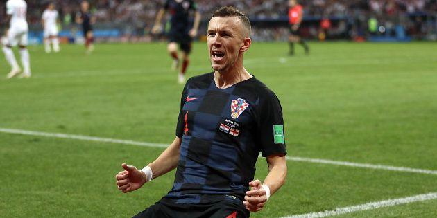 Ivan Perisic comemora gol que levou jogo para a prorrogação e encaminhou classificação