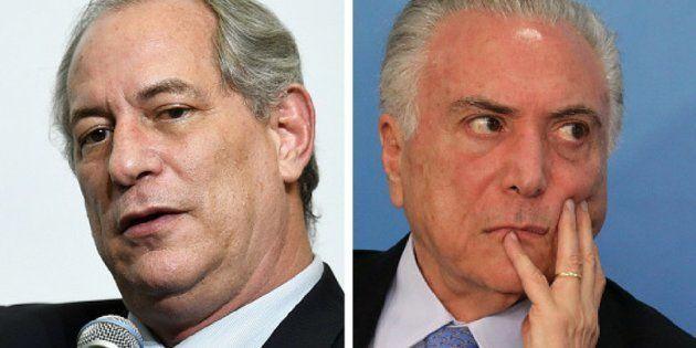 Ciro é crítico da política de teto de gastos públicos e já afirmou que o presidente Michel Temer deveria...