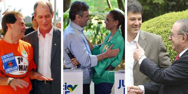 Paulinho da Força e Ciro, em 2002; Marina e Aécio, em 2014; Haddad e Maluf, em