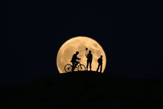 Lua cheia antes do eclipse lunar na